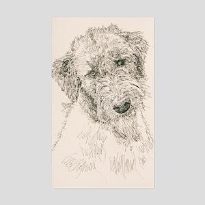 Irish_Wolfhound_KlineSq Sticker (Rectangle)