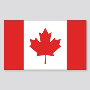 Flag of Canada Rectangle Sticker
