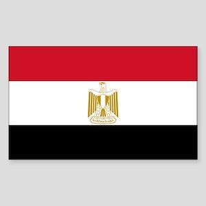 Flag of Egypt Sticker (Rectangle)