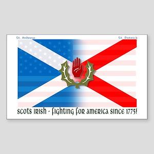 Scots-Irish - fighting for america Sticker