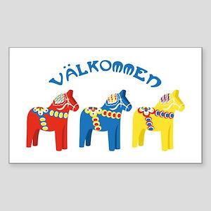 Dala Valkommen Horses Sticker