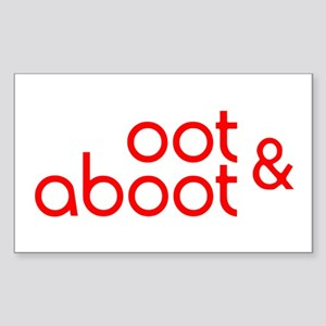 Oot & Aboot (red) Sticker (Rectangle)