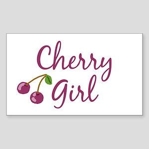 Cherry Girl Rectangle Sticker