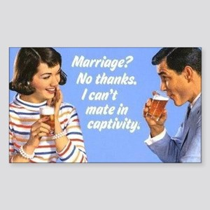 Marriage? Sticker (Rectangle)
