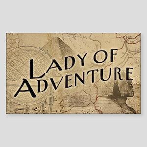 lady-of-adventure_11x18h Sticker (Rectangle)