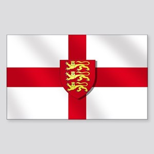 England Three Lions Flag Sticker (Rectangle)