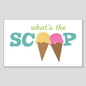 What's The Scoop Sticker