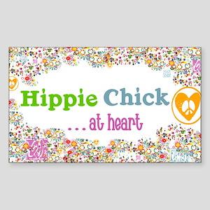 lg-hippie-chick Sticker (Rectangle)