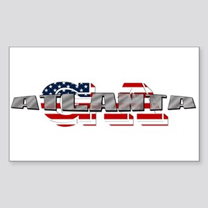 Atlanta GA Sticker (Rectangle)