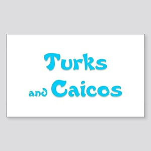 Turks and Caicos Rectangle Sticker