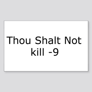 Kill -9 Rectangle Sticker