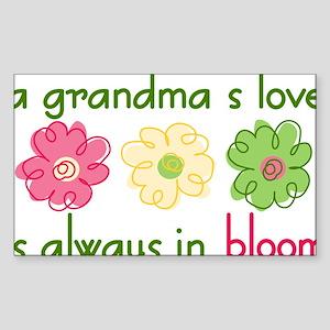 Grandma's Love Sticker (Rectangle)