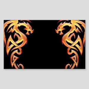Twin Dragons Sticker