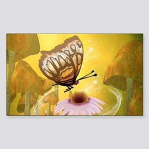 Butterfly with flower Sticker