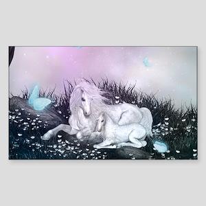 Wonderful unicorn with glowing butterflies Sticker