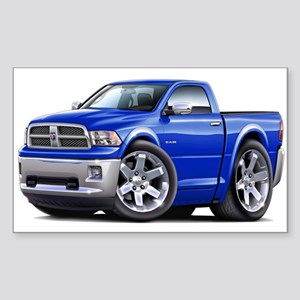 Ram Blue Truck Sticker (Rectangle)