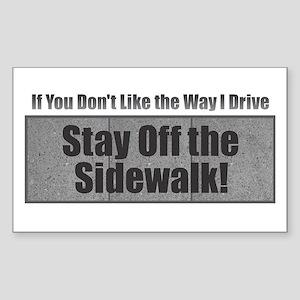 Drive Stay Off Sidewalk Sticker
