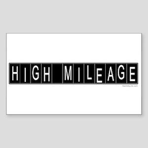 High Mileage Rectangle Sticker