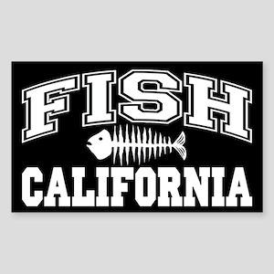 Fish California Rectangle Sticker