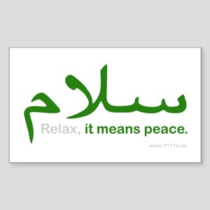 Relax It Means Peace | Sticker (Rectangle)