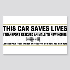 This car saves lives.JPG Sticker