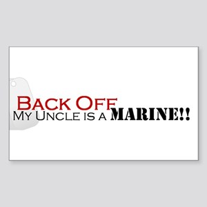 Back Off!-My Uncle is a Marin Sticker (Rectangle)