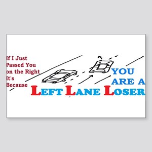 LEFTLANE LOSER Sticker (Rectangle)