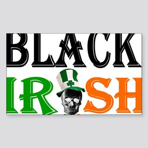 Black Irish St Patricks day Sticker