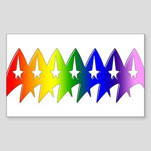 Trek Pride Original Sticker (Rectangle)