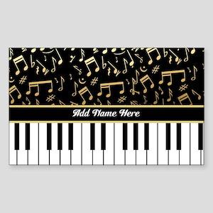 Personalized Piano musical notes designer Sticker