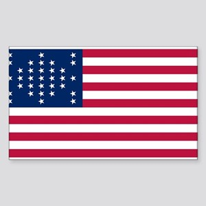 US - 33 Stars Fort Sumter Flag Sticker