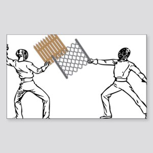 Fencing Sticker (Rectangle)