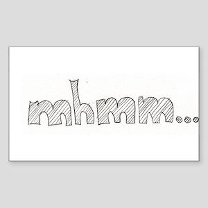 mhmm... Sticker (Rectangle)