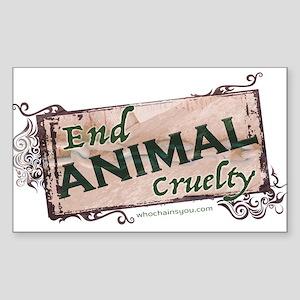 End Animal Cruelty Sticker