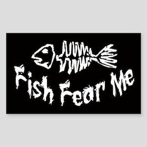 Fish Fear Me Oval Sticker