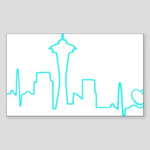 Seattle Heartbeat (Heart) AQUA Sticker