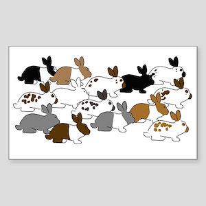 Many Bunnies Sticker (Rectangle)