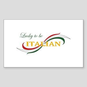 LUCKY TO BE ITALIAN Sticker