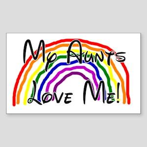 My Aunts Love Me Sticker (Rectangle)