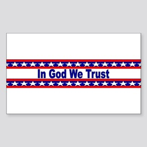 In God stripes Sticker (Rectangle)