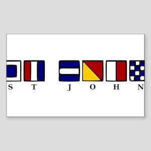St. John Sticker (Rectangle)