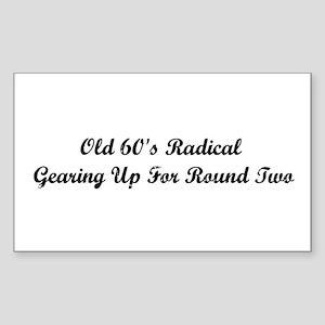 Old 60's Radical Sticker