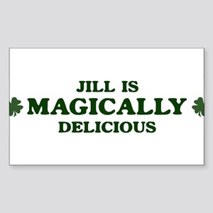 Jill is delicious Rectangle Sticker