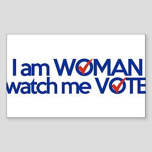 i am woman watch me vote Sticker