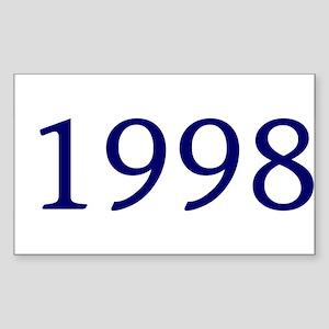 1998 Rectangle Sticker