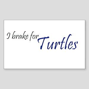 I brake for turtles 2 Rectangle Sticker