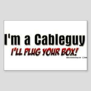 CableGuy Rectangle Sticker