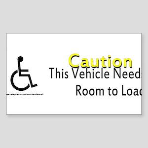 Caution Handicapped Sticker