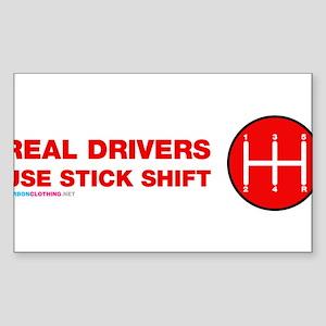 Real Drives Use Stick Shift Sticker