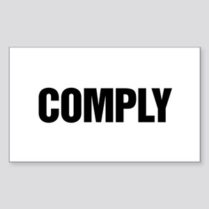 COMPLY Rectangle Sticker